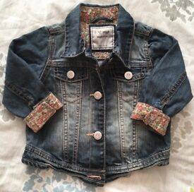 Next Girls Denim Jacket 12-18 months