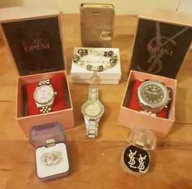Designer Bundle, Michael Kors, Rolex, Breitling, YSL, CC - Watch, Earrings, Perfume