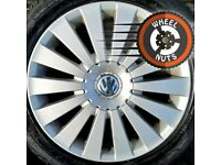 """17"""" Genuine VW Highline alloys excellent condition with tyres."""