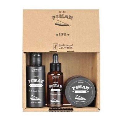 Barber Pack Beard Bart Pflegeset Shampoo Öl Wax PcMan Beard Pack