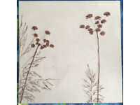 FELT FLORAL WALL HANGINGS IN BEIGE AND BROWN