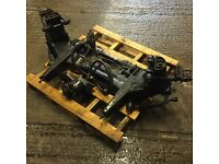 Jaguar MK2 Front crossmember with steering rack conversion fitted (hoses and pump)