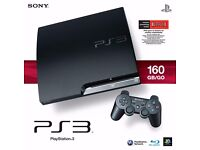 PS3 slimline 150gb games console with loads of games and 4 controllers with tablet for udraw
