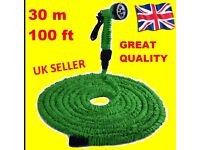 EASY30 - Lightweight Flexible Expanding Non Water Hose Pipe 30m 100 foot Easy 3X DELIVER POST Nossle