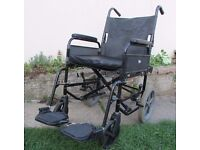 Wheelchair foldable swing away footrest very comfy easy to manoeuvre good condition