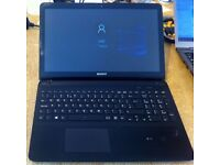 """Sony svf152c29m, Dc 1.5, 4gb ram, 500gb hard drive on windows 10, 15.6"""" touch screen with charger"""