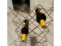 Rose Gold Colour Wine Rack