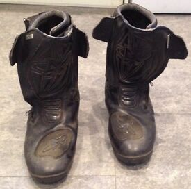 Alta Black Motor Cycle Boots size 10/44