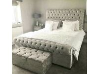 NEW SLEIGH DOUBLE BED AND MATTRESS