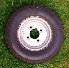 Trailer tyre and wheel 4.80 x 8 Pirelli