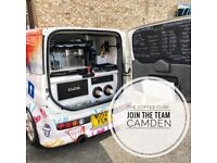 BARISTA WANTED FOR WORK IN CAMDEN