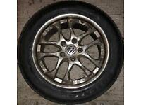 """17"""" Alloy Wheels 5 X 114.3 with good tyres"""