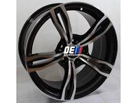 19INCH M3/M4 Style Alloy Wheels Black Machined BMW 5x120 E90 E92 F10 F30 E46