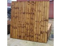 Fence panels and sheds