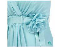 2 x aqua bridesmaid/prom dresses. Full length. From Debenhams. Gorgeous detail.