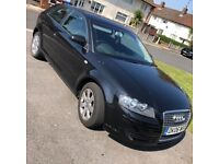 Black Audi A3 low mileage prices to sell