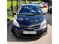 TOYOTA YARIS 1.3 VVT-I TR 5d 98 BHP Apply for finance Online today! (black) 2013