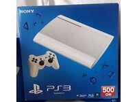 Classic White PS3 Super Slim 500gb **LIMITED EDITION CONSOLE BRAND NEW**