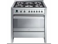 Smeg Opera 90cm Gas Hob with Electric Oven plus Smeg Extractor Hood to match
