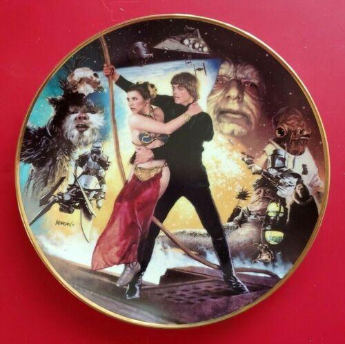 "1992 RETURN OF THE JEDI - STAR WARS TRILOGY 9"" PLATE"