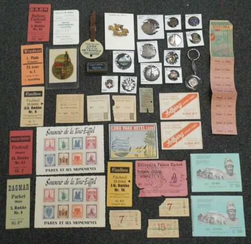 Lot of 40 - Vintage World Wide Travel Souvenirs - 14 Countries
