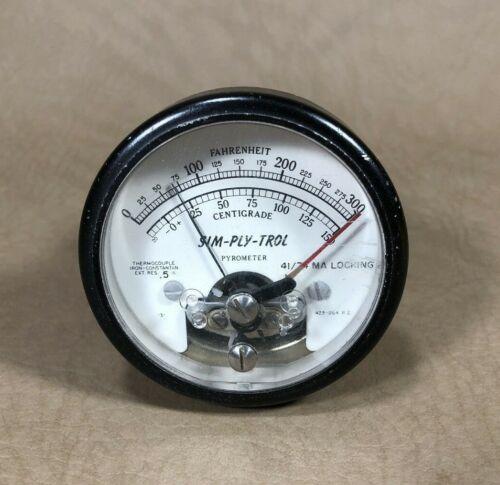 SIM-PLY-TROL Pyrometer Gauge Fahrenheit & Centigrade