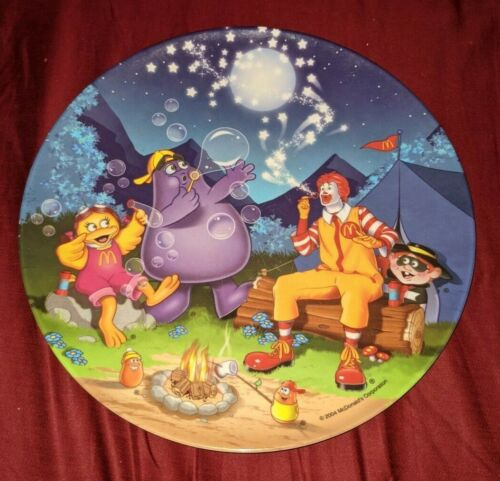 "McDonalds 2004 CAMPING 9"" Melamine Plastic Collector Plate Ronald Grimace Birdie"