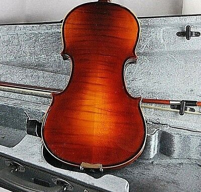 CONCERT 4/4 FULL SIZE ANTIQUE FINISH FLAMED VIOLIN/FIDDLE-GERMAN