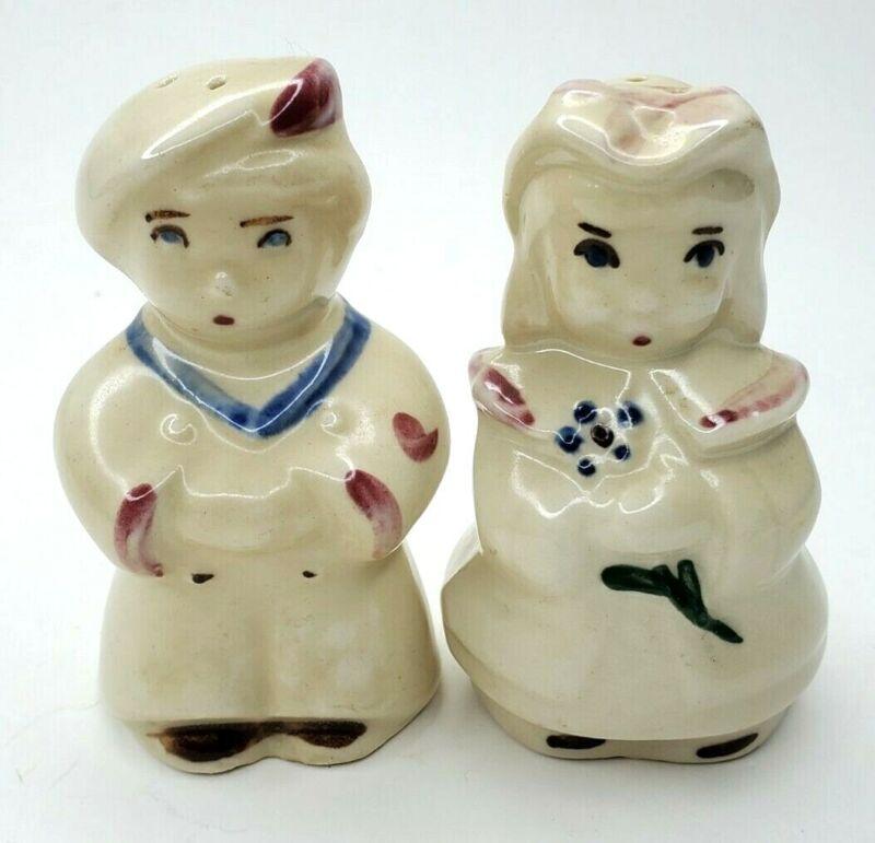 Vintage Shawnee Pottery Sailor and Little Bo Peep Salt and Pepper Shakers