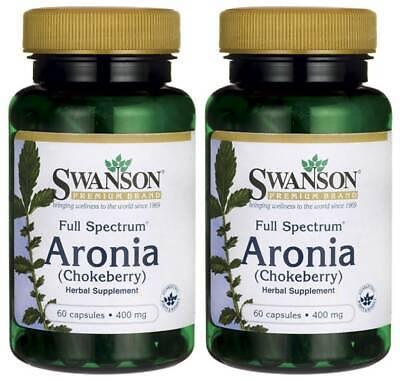 Swanson Full Spectrum Aronia (Chokeberry) 400mg 120 Caps Antioxidant + Bonus - Full Spectrum Antioxidant