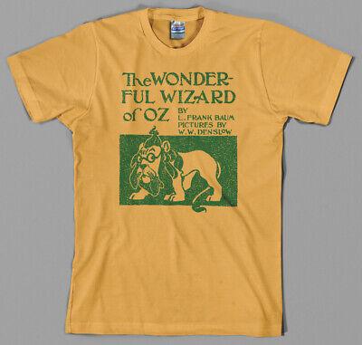 Wizard of Oz 'Original Book Cover' T Shirt - dorthy, tin man, scarecrow, (Origin Of Wizards)