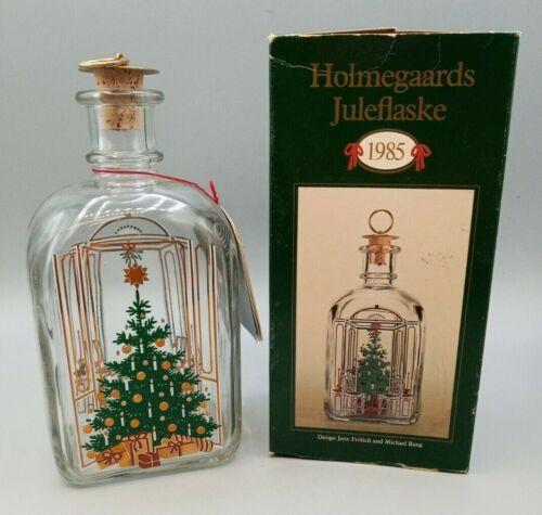 VINTAGE 1985  HOLMEGAARD CHRISTMAS BOTTLE DECANTER JETTE FROLICH MICHAEL BANG