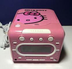 HELLO KITTY Stereo CD Player AM/FM Dual Alarm Clock Radio by Sanrio KT2053A