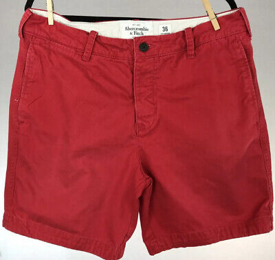 """Abercrombie & Fitch Men's Red Shorts 8"""" Inseam Size 36"""