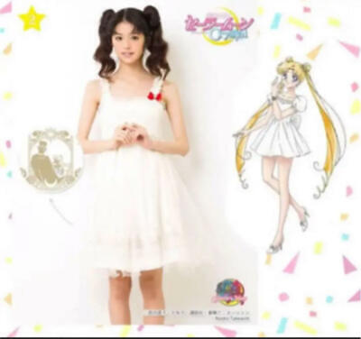 Used Sailor Moon x Secret Honey Serenity One Piece White Home cleaned - Home Cute Kostüm