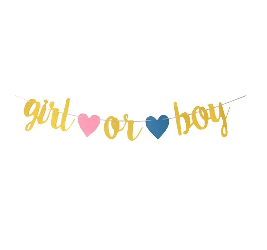 ★ Baby Shower Party Boy or Girl Überraschung Party Girlande Gold Dekoration ★