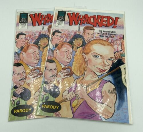 2 Two Whacked! Comics Tonya Harding Olympic Figure Skating Parody NEW & UNREAD