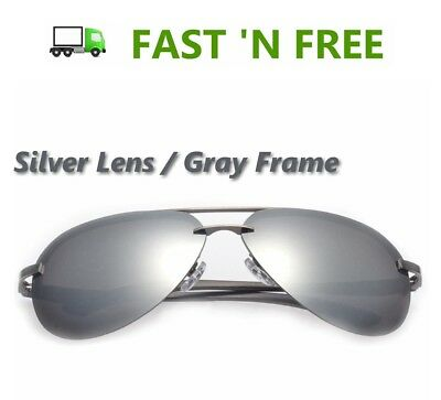 - Unisex Retro Polarized SILVER Color Mirror Lens Aluminum Alloy Frame Sunglasses