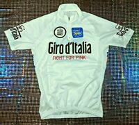4cec85e49f VINTAGE GIRO D ITALIA EURO SPIN CASACCA CICLISTA tg L FIGHT FOR PINK m  bianca