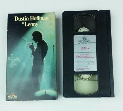 Lenny Dustin Hoffman VHS Movie Tape MGM Home Video 1989 Best Picture