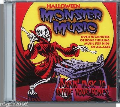 Halloween Monster Music - New Kids CD! 20 Fun, Bone-Chilling Songs - Over 70 Min - Fun Halloween Music