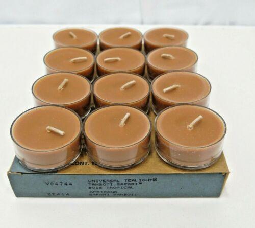 PartyLite Tamboti Safari Universal Tealight Candles 12 count V04744