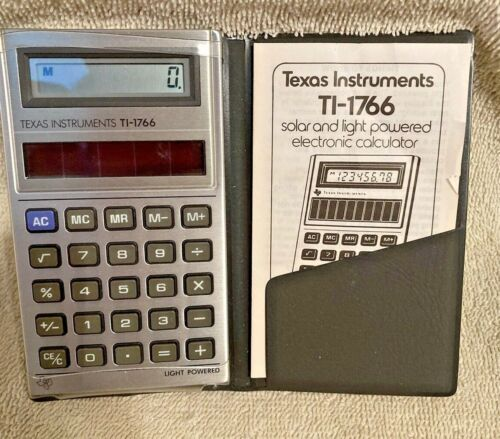 Texas Instruments TI-1766 Complete w/ case and booklet 1981