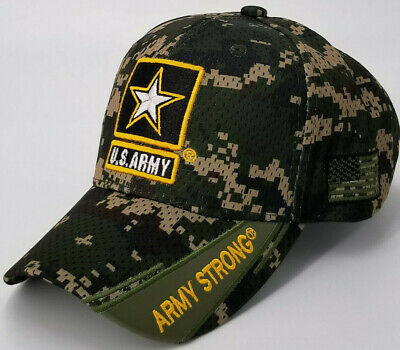US Army Strong Baseball Cap, Military Camouflage Hat, Camo,