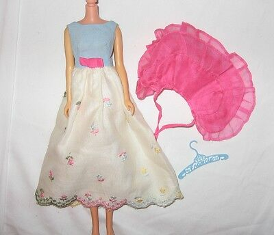 Vintage Barbie Francie # 1260 First Formal Gown Pink Cape Excellent