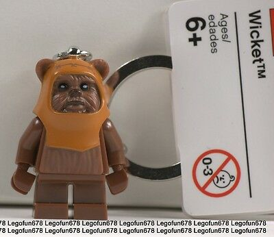 LEGO NEW Star Wars Wicket Minifigure Key chain With Tag 8038