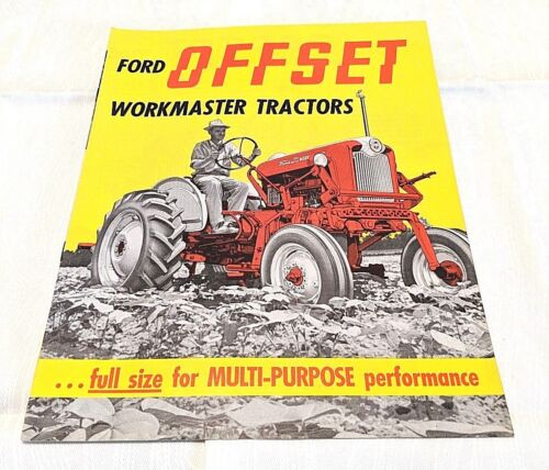 1962 Ford 541 Offset Workmaster Tractors Sales Brochure