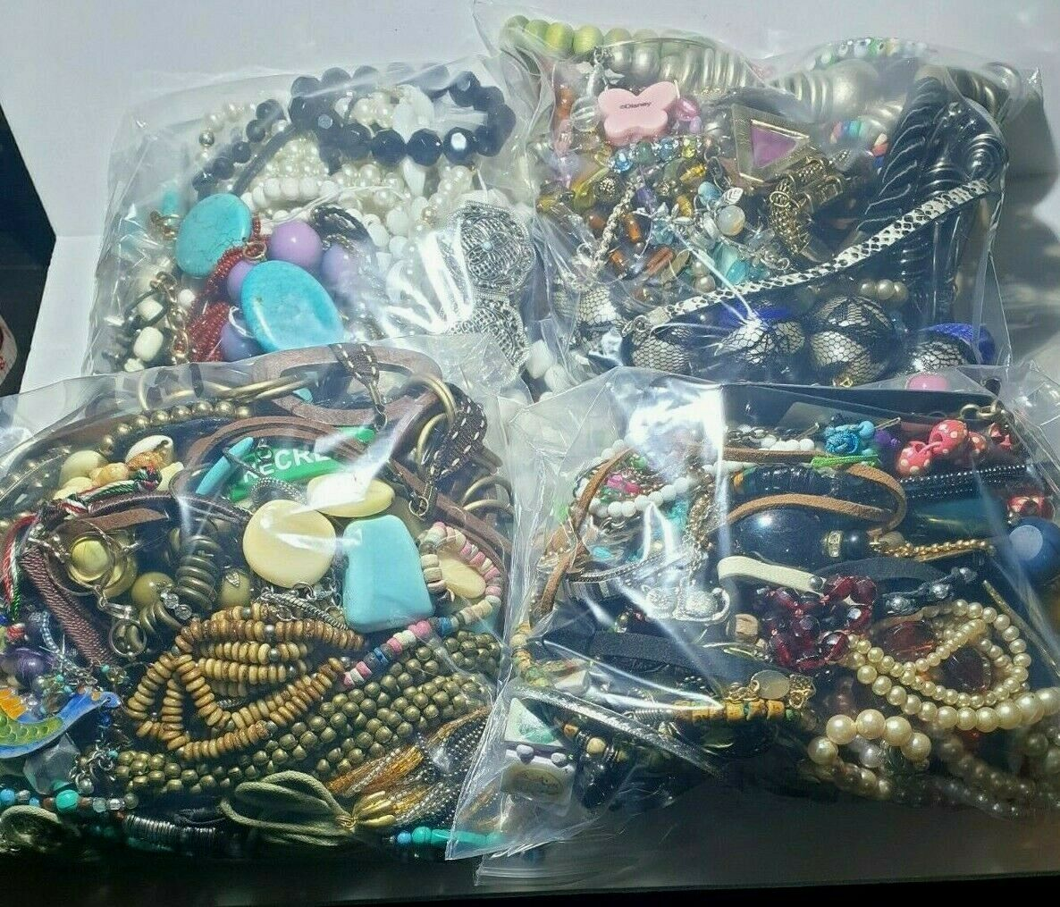 Jewellery - 1KG Job Lot costume jewellery mixed bundle upcycle resell resale free UK p&p
