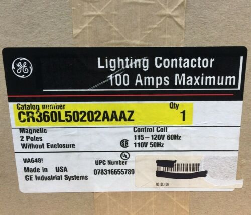 NEW GE CR360L50202AAAZ LIGHTING CONTACTO 100 A 2P (FREE 2 DAY AIR BUY NOW ONLY)
