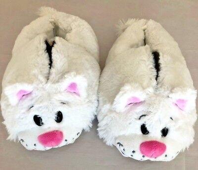 Brown White Sz 13 Reversable Bunny Cat Dog Costume Slipper Shoes